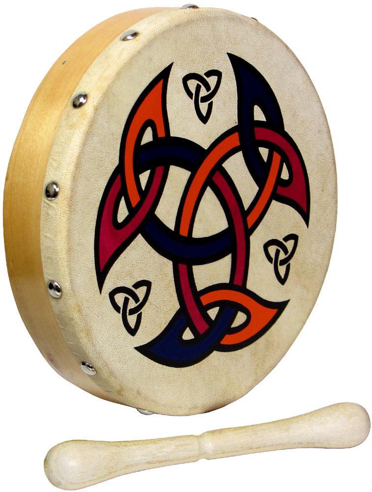 HS Irish Bodhran Drum Beater Stick Various Designs//Frame Drum Knot Tipper,Celtic