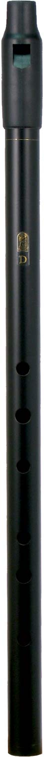 Howard Low D Whistle, Black, Tuneable With tuneable black plastic mouthpiece