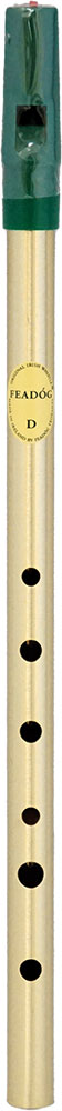 Feadog Brass High D Whistle, Single