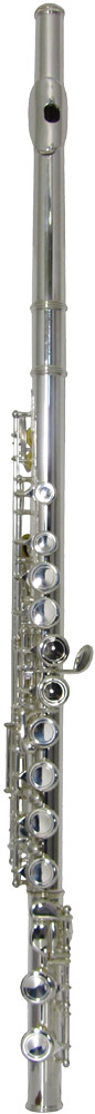 Valentino Silverplated Student Flute Silver plated with split E mechanism. Basic but good quality starter model