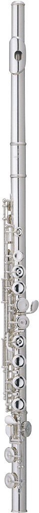 Pearl 505E Quantz Flute, Silver Plated Silver plated head joint, body & footjoint. Off set with split E mechanism
