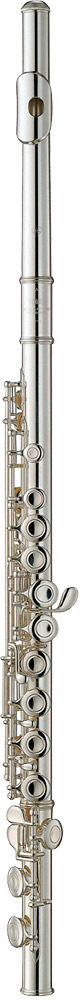 Yamaha YFL-212 Flute, Silver Plated Silver plated nickel body with split E mechanism