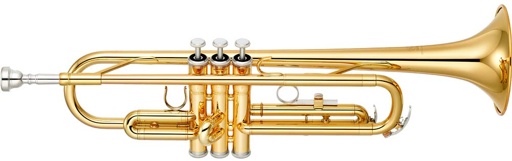 Yamaha YTR-2330 Bb Trumpet, brass Bb, yellow brass with gold lacquer finish