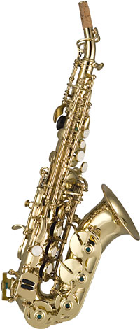 Trevor James 3631 Artemis Curved Soprano Sax Free blowing curved sop sax. Gold lacquer finish