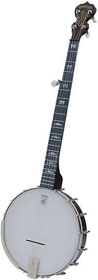 Deering Artisan 5 Str Banjo, Openback Classic brown stain finish, midnight maple fingerboard with 5th string spikes