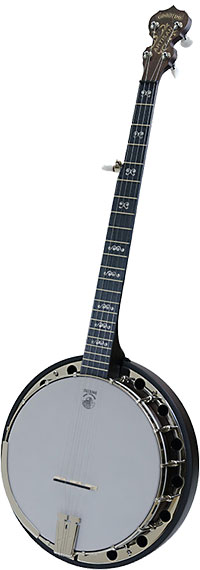Deering Artisan 5 Str Banjo, Resonator Classic brown stain finish, midnight maple fingerboard with 5th string spikes