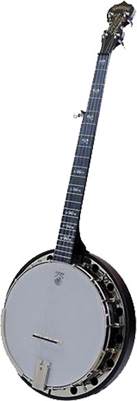 Deering Artisan Special Banjo, Resonato 5 string banjo with the patented Goodtime tone ring. Classic brown stain finish