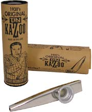 Clarke Metal Kazoo, Silver Silver coloured, Comes with display tube and information sheet