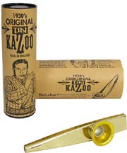 Clarke Gold Colour Metal Kazoo, Single Gold coloured, Comes with display tube and information sheet
