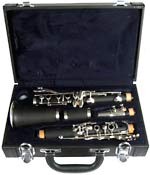 Valentino Student Bb Clarinet, ABS ABS bodied instrument with black wood-grain effect finish