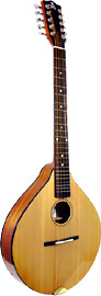 Ashbury Style E Celtic Cittern, 10 string Solid Alaskan Sitka Spruce top, solid sapele body, designed by Phil Davidson