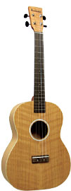 Ashbury AU-40 Baritone Ukulele, Flamed Oak Flame oak top, back and sides. Satin finish.