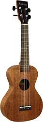 Ashbury AU-50 Concert Ukulele, Solid Sapele Solid saplele top, back and sides. Slightly larger body size