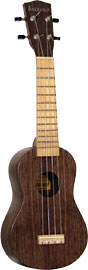 Ashbury AU-12 Soprano Ukulele, Black Walnut Black walnut top, back and sides. Maple fingerboard and bridge