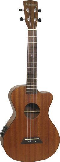 Ashbury AU-50 Tenor Ukulele With Cutaway Fishman Isys Uke pick-up and EQ unti. All solid sapele top back and sides