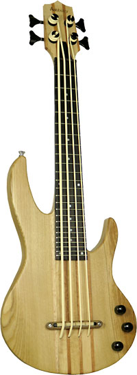 Ashbury AU-115 Solid Body Electric U Bass Solid maple body with double cutaway. Thundergut uke strings