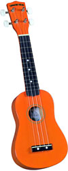 Diamond Head DU-103 Soprano Ukulele, Orange Soprano ukulele with maple body and painted fingerboard and bridge