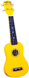 Diamond Head DU-104 Soprano Ukulele, Yellow Soprano ukulele with maple body and painted fingerboard and bridge