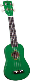 Diamond Head DU-105 Soprano Ukulele, Green Soprano ukulele with maple body and painted fingerboard and bridge