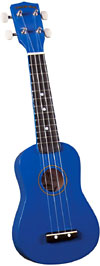 Diamond Head DU-107 Soprano Ukulele, Blue Soprano ukulele with maple body and painted fingerboard and bridge
