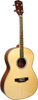 Ashbury AT-14 Tenor Guitar, Spruce Top CGDA Solid sitka spruce top with mahogany body, 12 fret to body, Standard tuning