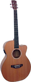 Ashbury Lindisfarne Tenor Guitar GDAE Solid cedar top, Solid koa back and sides. Cutaway with Fishman pick-up