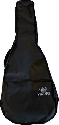 Ashbury Std Classic Guitar Bag, 1/2 Tough black nylon outer with 5mm padding & external pockets