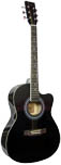 Blue Moon BG-15 Small Body Guitar, Cutaway, BLK Small body with cutaway, black gloss finish, spruce top, hardwood fingerboard