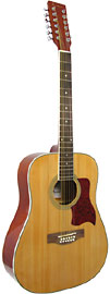 Blue Moon BG-15 12 String Guitar, Dreadnought Dreadnought body, 12 string, spruce top, linden back & sides
