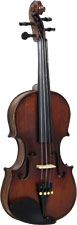 Valentino VG-102 1/4 Size Violin Outfit Carved solid spruce top, carved solid maple body with two piece back
