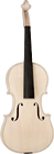 Saga VW-3 Violin In The White 4/4 Inlaid purfling, Grade A solid, handcarved spruce top