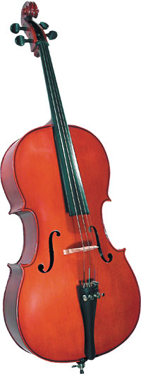 Cremona SC-100 1/2 Size Cello Outfit Cremona SC-100 1/2 Size Premier Novice Cello with Dyed Rosewood Fingerboard