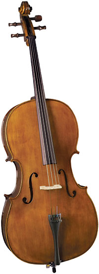 Cremona SC-165 4/4 Size Cello Outfit with bow Select tonewoods, quality workmanship for better sound and hard shell foam case