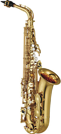 Yamaha YAS-280S Eb Alto Saxophone Student model in Silver-plated finish